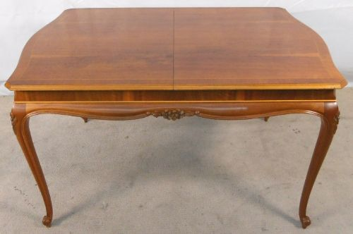 Antique French Style Carved Walnut Extending Dining Table to Seat Eight